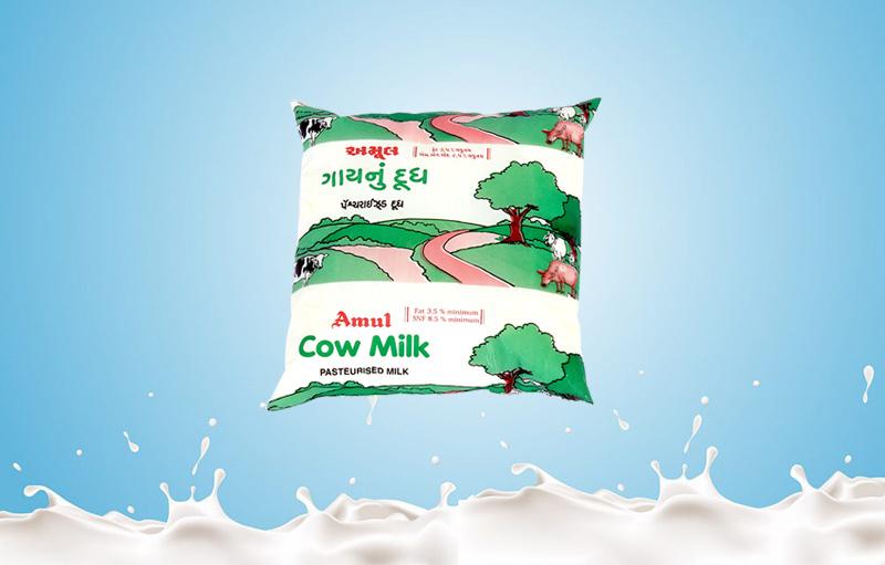 Amul Cow Milk 500 200ml Baroda Dairy