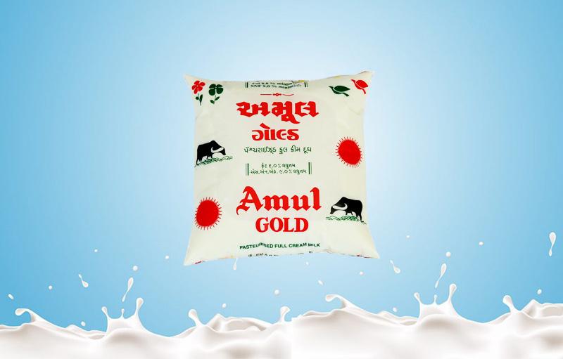Amul Gold Milk 500 Ml 5 Ltr Baroda Dairy